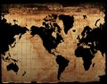 Antique Map of the World Royalty Free Stock Photo