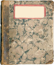 Antique marbled school note book Stock Photo