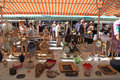 Antique market in nice france may the cours saleya at the french riviera famous of every monday at may a huge variety Stock Images