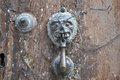 Antique mexican door knocker san miguel de allende mexico Royalty Free Stock Photo