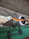Antique military airplane on display  Royal Museum of Armed Forc Royalty Free Stock Photo