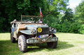 Antique military car exhibited vehicle Royalty Free Stock Photography