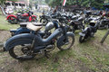 Antique motorcycles various types of sold in karanganyar central java indonesia Stock Photo