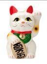 Antique Neko Cat Isolated