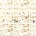 Antique Newspaper Butterflies