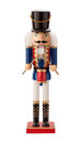 Antique Nutcracker Drummer isolated Royalty Free Stock Photo