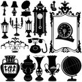 Antique objects vector Royalty Free Stock Photo