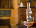 Antique oil lamp. Royalty Free Stock Photo