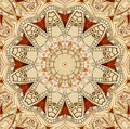 Antique old golden clock kaleidoscope pattern abstract background. Abstract surreal clock pattern kaleidoscope Golden watch patter Royalty Free Stock Photo