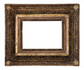 Antique old picture frame wooden ceramics isolated on white Royalty Free Stock Photo