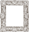 Antique ornate frame vector drawing of the old baroque Stock Photos
