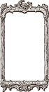 Antique ornate frame vector drawing of the old in barouque style Royalty Free Stock Photos