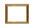 Antique ornate golden picture or photo frame Royalty Free Stock Photo