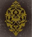 Antique ottoman grungy wallpaper raster design Stock Image