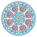 Antique ottoman turkish pattern vector design ninety eight