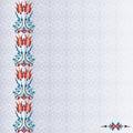 Antique ottoman turkish pattern vector design ninety four