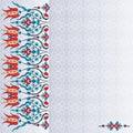 Antique ottoman turkish pattern vector design ninety six