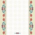 Antique ottoman turkish pattern vector design ninety three