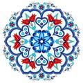 Antique ottoman turkish pattern vector design three