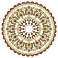 Antique ottoman turkish pattern vector design twenty four