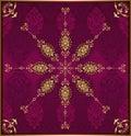 Antique ottoman wallpaper illustration design Royalty Free Stock Photo