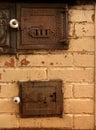 Antique oven Stock Photo