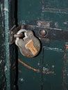Antique padlock on jail cell door Kilmainham Gaol Jail Museum D Royalty Free Stock Photo