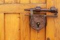 Antique padlock Royalty Free Stock Photo