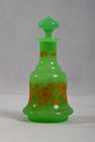 Antique perfume bottle 1840 green Royalty Free Stock Photo
