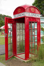 Antique phone booth. Royalty Free Stock Photos