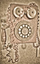 Antique phone old rustic circa s Royalty Free Stock Images