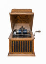 Antique Phonograph Isolated on White Royalty Free Stock Photo