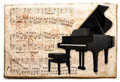 Antique piano Stock Photography