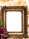 Antique picture frame Royalty Free Stock Photo