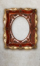 Antique picture frame handmade ceramics isolated on marble effect background Royalty Free Stock Photo