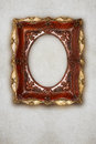 Antique picture frame handmade ceramics  on wall effect Royalty Free Stock Photo