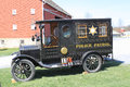 Antique police car black patrol Stock Photos