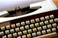 An antique portable typewriter Royalty Free Stock Image