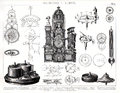 1874 Antique Print Of Giant Cl...