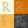 Antique r dekorative symbol vector illustration eps clip art Royalty Free Stock Photo