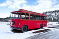 Antique red bus Stock Photography