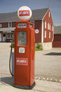 Antique red gas pump
