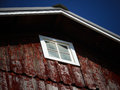 Antique red old wooden barn Royalty Free Stock Image