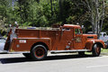 Antique  restored firefighters  truck Royalty Free Stock Photo