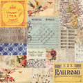 Antique retro paper collage Royalty Free Stock Photo