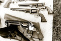 Antique Revolvers Stock Photos