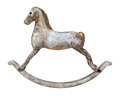 Antique Rocking Horse isolated Royalty Free Stock Photography