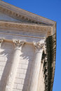 Antique Roman temple in Nimes, France Stock Image