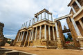 Antique Roman Theatre. Merida, Spain Royalty Free Stock Photo