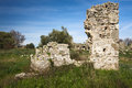 Antique ruins agora side antalya turkey middle east Stock Photo
